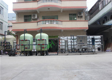 Salt / Brackish Water Treatment Plant , RO Water Purifier With 5000 Liters Water Tank