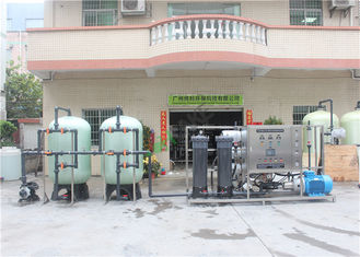 Contain Pressure Gauge Sea Water Purification Machine , Reverse Osmosis With 8040 Membrane